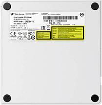 Внешний дисковод для ноутбука LG GP57EW40, White, DVD+/-RW, USB 2.0, переносной оптический привод, фото 2
