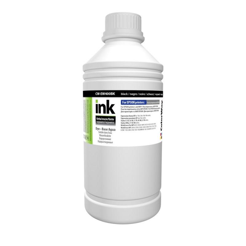 Чернила ColorWay Epson S22, SX125/130/230, XP-33/103/203/303, T26, TX106/200, Black, 1 л (CW-EW400BK1), краска для принтера