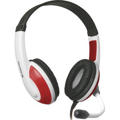 Игровые наушники с микрофоном Defender Warhead G-120 Red/White, игровая гарнитура