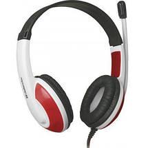 Игровые наушники с микрофоном Defender Warhead G-120 Red/White, игровая гарнитура, фото 3