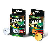 Мячики н / т Atemi 1 * 6шт белые ATEMI NTTB1*6