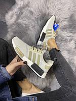 """Мужские Кроссовки Adidas NMD Runner """"Grey Green"""" - """"Серые Зеленые"""""""