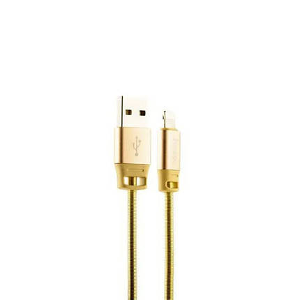 Кабель Lightning для iPhone, Hoco Golden shield 1.2 метра 2.1 A U27, золотистий, фото 2