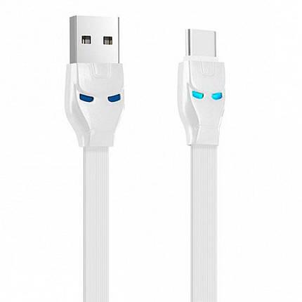 Кабель USB Type C, Hoco Steel man, плоский, білий, 1 м (U14), фото 2