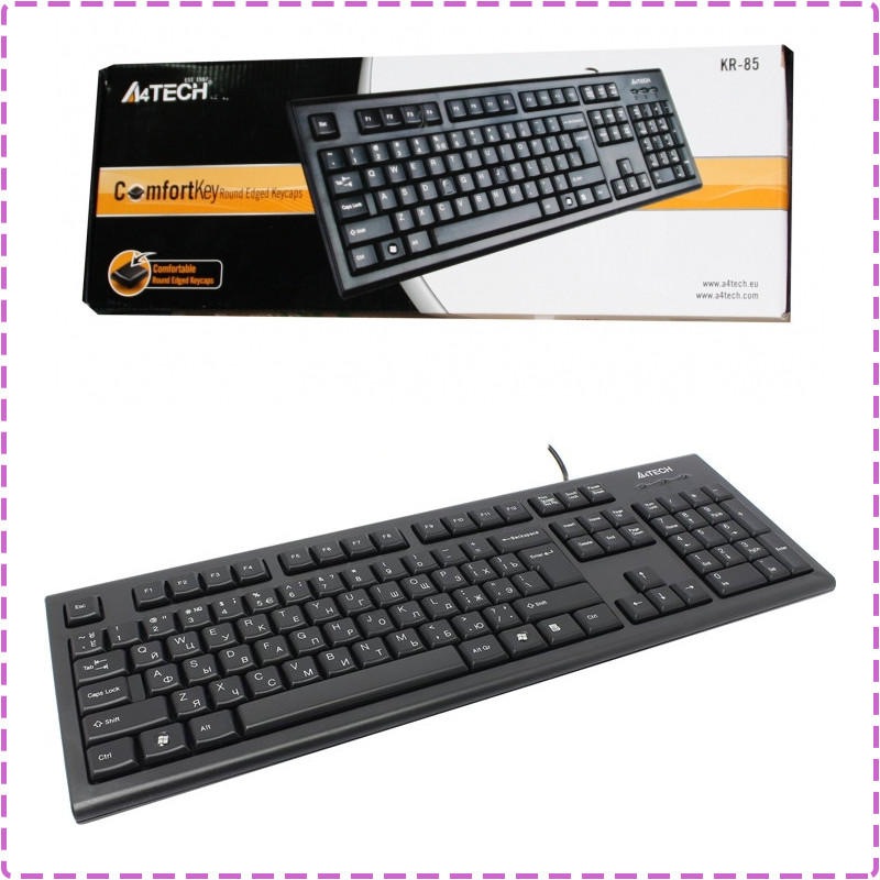 Клавиатура A4Tech KR-85 Black, PS/2, стандартная