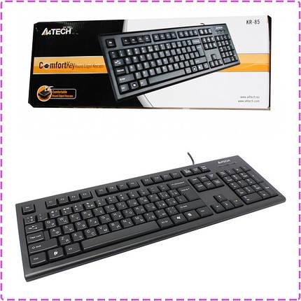 Клавиатура A4Tech KR-85 Black, PS/2, стандартная, фото 2