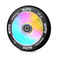 Колесо для трюкового самоката Hipe LMT20 120мм, Black/Neo chrome