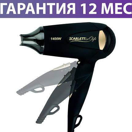 Фен Scarlett SC-HD70IT10 Black, 1400 Вт, фото 2