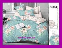 Полуторный комплект постельного белья из хлопка Полуторний комплект постільної білизни на молнии S364