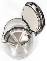 Электрочайник Holmer HKG-1920 Black, 1800W, 1.8 л, чайник стеклянный электрический, електрочайник, фото 3