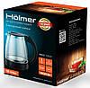 Электрочайник Holmer HKG-1920 Black, 1800W, 1.8 л, чайник стеклянный электрический, електрочайник, фото 2