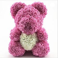 Мишка из роз Zupo Crafts 25 см Розовый 111697138719, КОД: 1638581