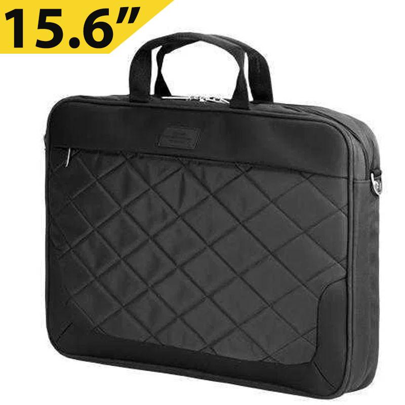 """Сумка для ноутбука 15.6"""" Sumdex PON-322BK, черная, нейлон/полиэстер, 29,2 x 38,7 x 3,8 см"""