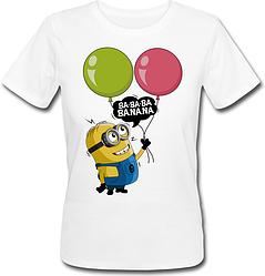 Женская футболка Fat Cat Миньон - Ba-ba-ba Banana (белая)