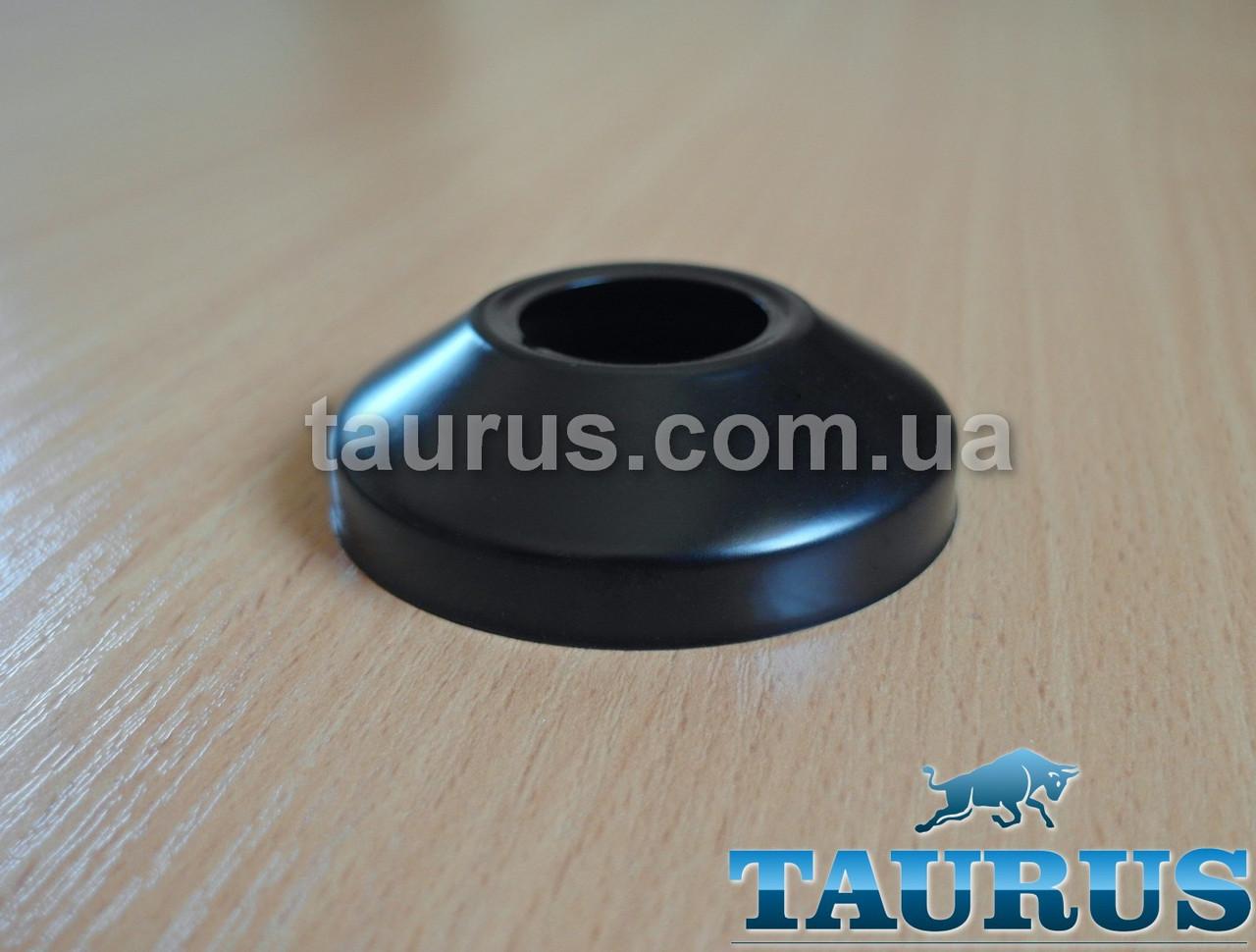 """Чорний об'ємний декоративний фланець Black розмір D64 мм х висота 18 мм під внутрішній розмір 3/4"""" (25мм)"""