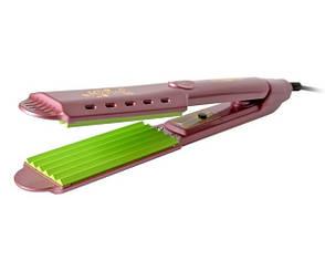 Утюжок-гофре для волос Gemei GM-2957 гофре Розовый
