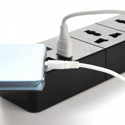 Кабель USB Type C, Aspor, білий, 1 метр, 2.1 A (AC-03), фото 2