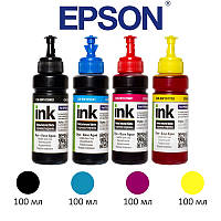 Комплект чернил ColorWay Epson L100/L200, 4x100 мл (CW-EW101SET01), краска для принтера эпсон