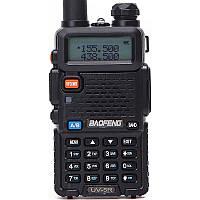 Рация Baofeng UV-5R Black + Гарнитура Baofeng c кнопкой РТТ, КОД: 1310536