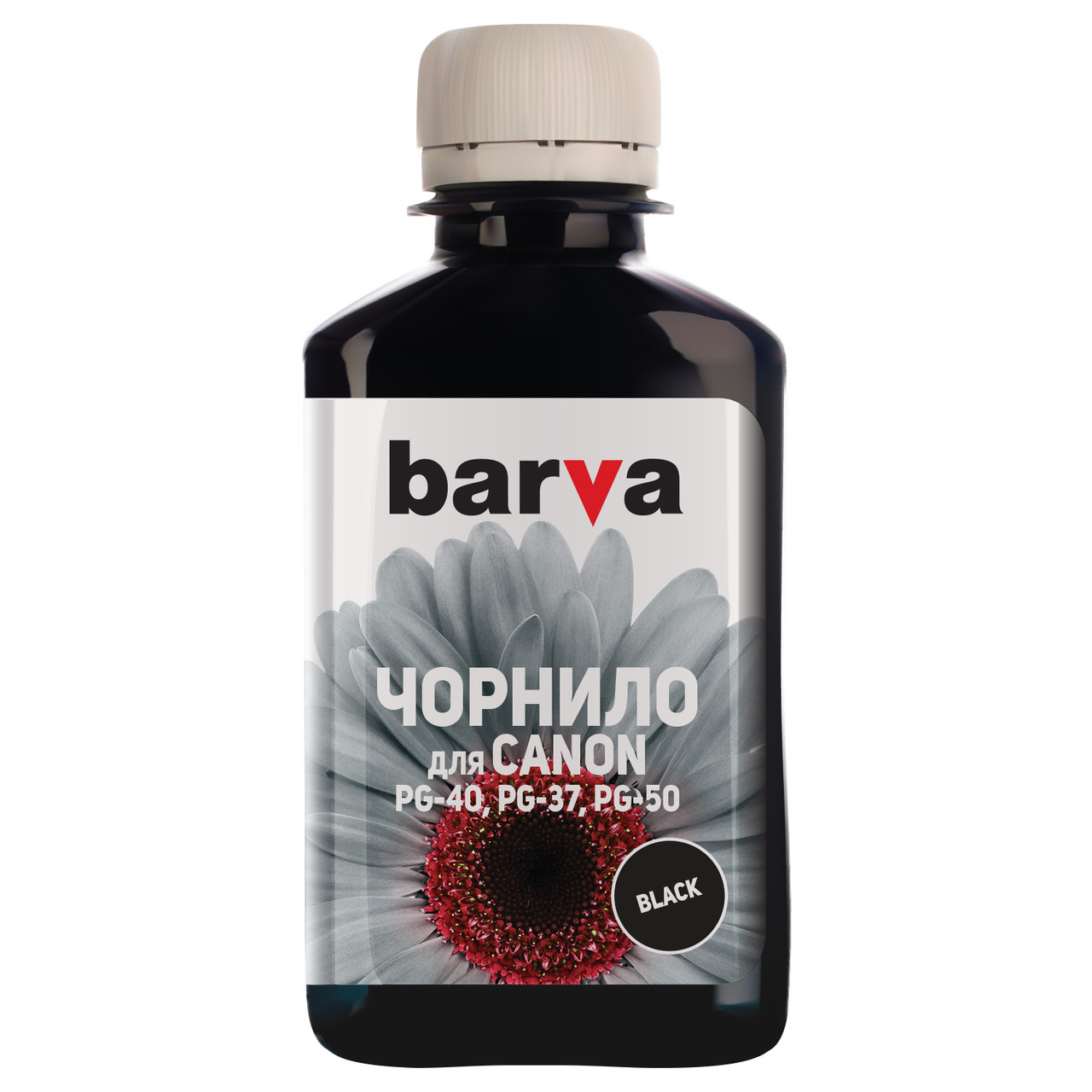 Чернила Barva Canon PG-37 / PG-40 / PG-50, Black, 180 г (C40-080), краска для принтера