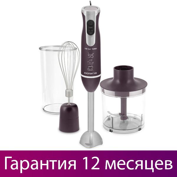Блендер с чашей + миксер + измельчитель Polaris PHB 0756  Black, венчик для взбивания, погружной поларис