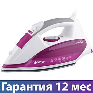 Праска Vitek VT-1262, 2400 Вт, антипригарне покриття, сикавка, відпарювання, паровий удар