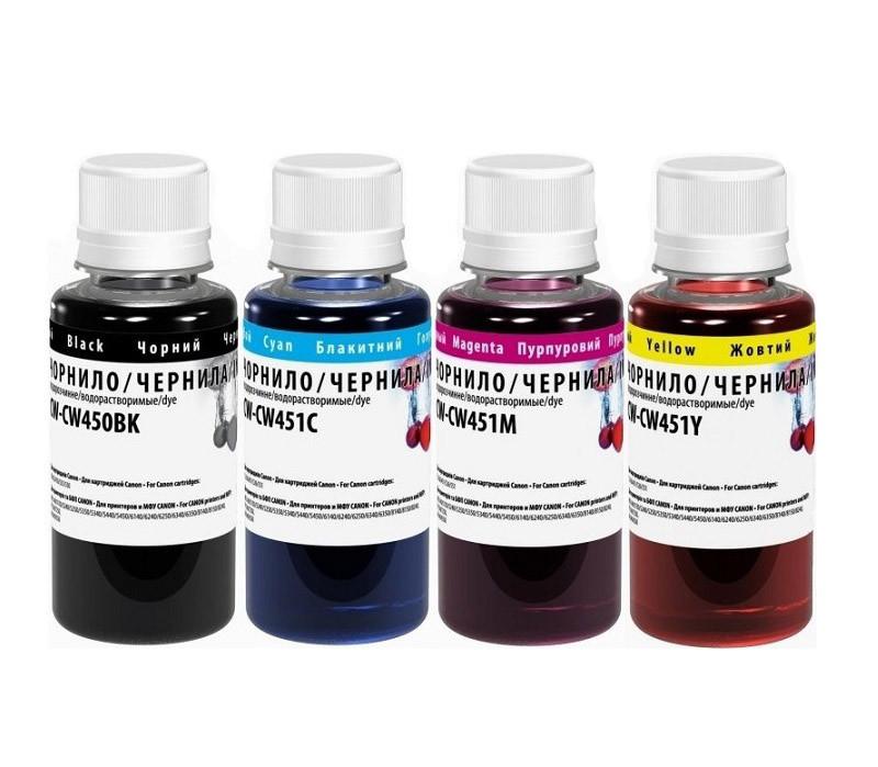 Комплект чернил ColorWay Canon PGI-450/CLI-451, 4x100 мл (CW-CW450/CW451SET01), краска для принтера кэнон