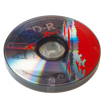 Диски CD-R 10 шт. Videx X-Red, 700Mb, 52x, Bulk Box