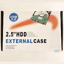 "Карман внешний USB 3.0 HQ-Tech HDD-25SU3-A1, SATA 2,5"", чехол, безотверточная установка, фото 3"