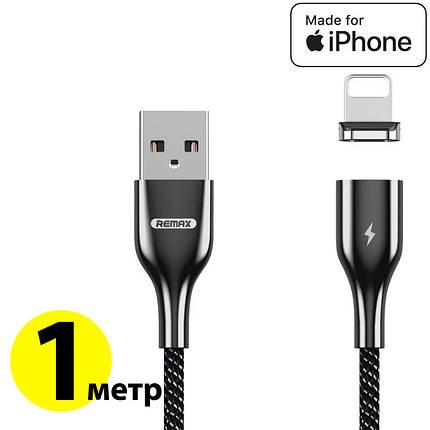 Кабель Lightning для iPhone, Remax 'Magnetic series', магнітний, чорний, 1 метр (RC-158i), фото 2