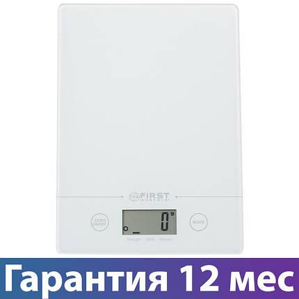 Весы кухонные First FA-6400, электронные весы для кухни, електронні кухонні ваги, фото 2
