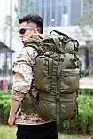 Рюкзак каркасный, туристический на 65L Черный, фото 8