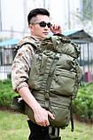Рюкзак каркасный, туристический на 65L Черный, фото 9