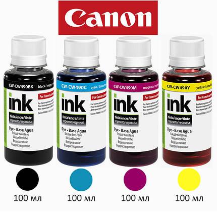 Комплект чернил ColorWay Canon GI-490 для G1400/G2400/G3400, 4x100 мл, краска для принтера кэнон, фото 2