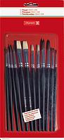 Набор школьных кистей Brunnen 12 шт черный цвет 104893001