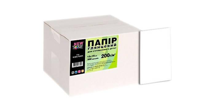 Фотопапір NewTone, глянсовий, 200 г/м2, A6 (10x15), 500л (G200.F500N), фото 2