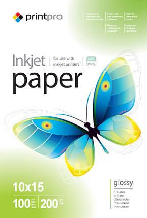 Фотобумага PrintPro глянцевая, A6 (10x15), 200 г/м, 100 шт (PGE2001004R), фото 2