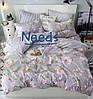 Комплект постельного белья Kris-Pol Sakura Бязь №147537-2е на резинке двуспальный евро 200х220 - Фото
