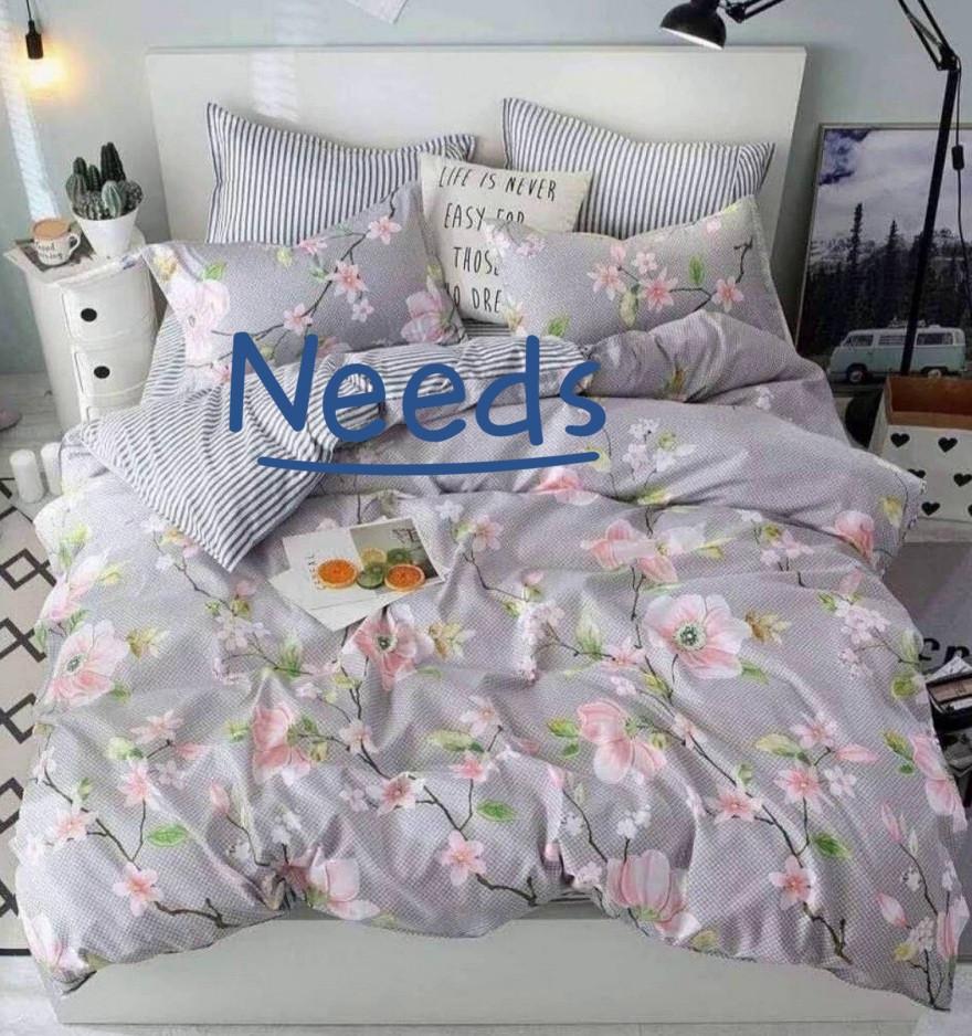 Комплект постельного белья Kris-Pol Sakura Бязь №147537-2е на резинке двуспальный евро 200х220