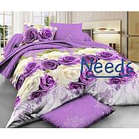 Комплект постельного белья Kris-Pol Purp Бязь №147153-2е на резинке двуспальный евро 200х220