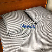 Комплект постельного белья Kris-Pol Grey Бязь №140905-s на резинке семейный 2 х 150х220