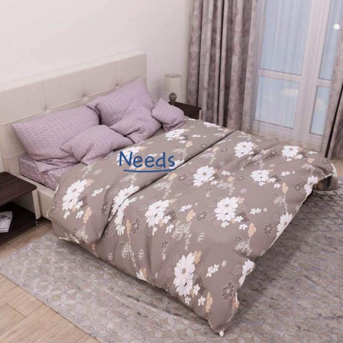 Комплект постельного белья Kris-Pol Папоротник Бязь Голд №154110-2e двуспальный евро 200х220