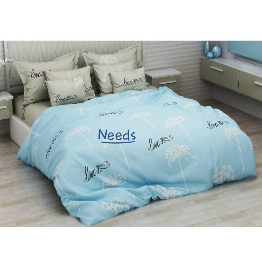 Комплект постельного белья Kris-Pol Love you Бязь №154155-2е двуспальный евро 200х220