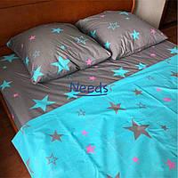 Комплект постельного белья Kris-Pol Stars Бязь №157351-2е двуспальный евро 200х220