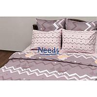 Комплект постельного белья Kris-Pol Зигзаги Бязь №157534-2е двуспальный евро 200х220