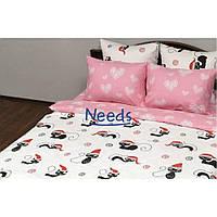 Комплект постельного белья Kris-Pol Коты Бязь №15627-2е двуспальный евро 200х220