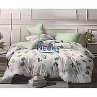 Комплект постельного белья Kris-Pol Кактусы Бязь №147569-2е на резинке двуспальный евро 200х220