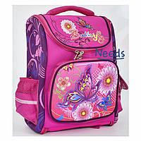 Школьный рюкзак для девочки ортопедический каркасный. Портфель ранец в школу для первоклассницы Розовый 67816