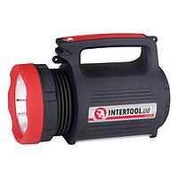 Фонарь аккумуляторный 1LED 5W+22 SMD, 2 led лампы INTERTOOL LB-0105