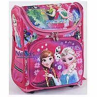 Школьный рюкзак для девочки ортопедический каркасный Frozen Розовый (76922)